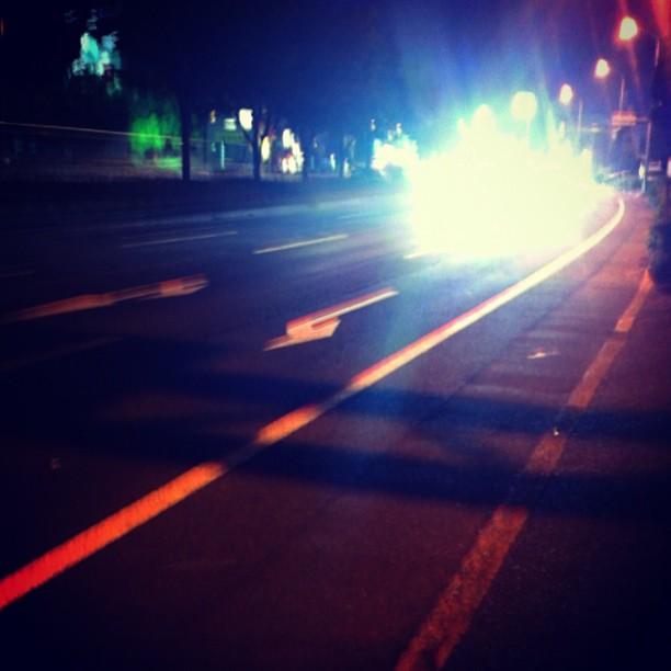 夜の道路を走る〜 from Instagram