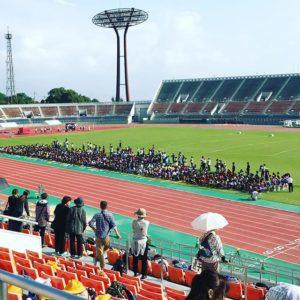 松山市小学校総体の開会式。ウチの次女も一応参加してます。|Instagram