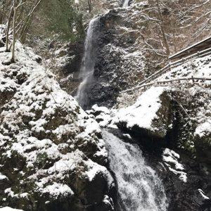 雪が積もってます。愛媛です。さてどこでしょう?