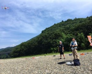 愛媛のおやじ井戸端会議、カヌー研修でドローン飛ばして空撮♪どんな映像が撮れたか、早く確認したい。楽しみ〜♪