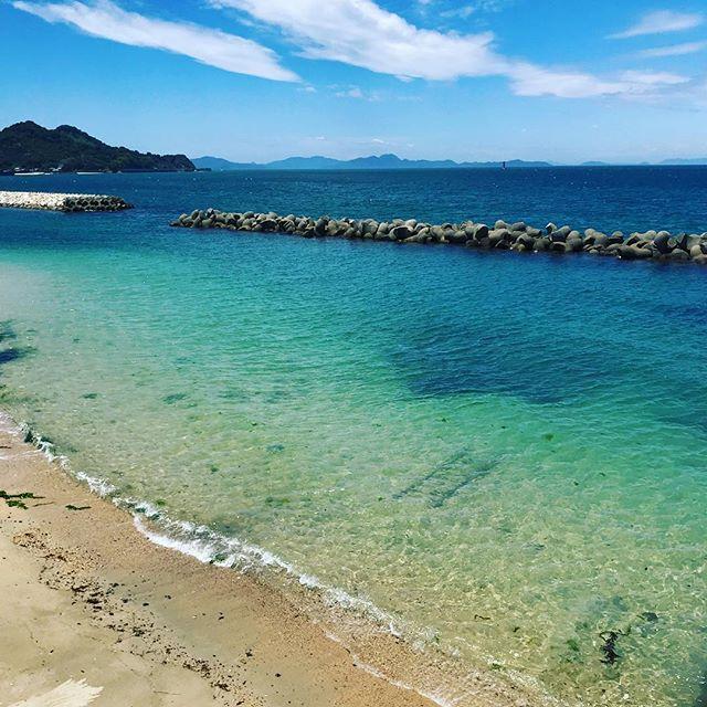 台風一過ーー!!な青空と海。キレイだねぇ※ロケ地:松山市北条