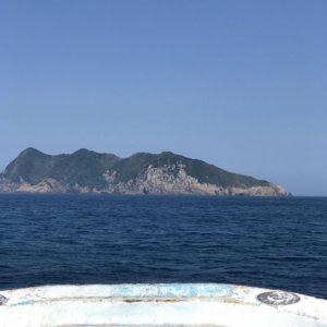 島が見えたよー。