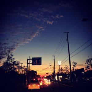 日が沈む。今日も一日、お疲れ様でした。さぁ、明日からもがんばらなきゃ!