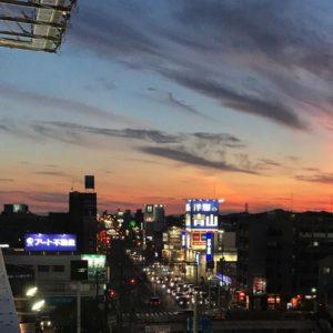 なかなかドラマティックな色合いだった、夕焼け空。1/3